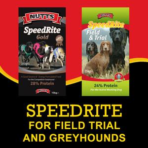Speedrite Field Trial and Greyhound dog food